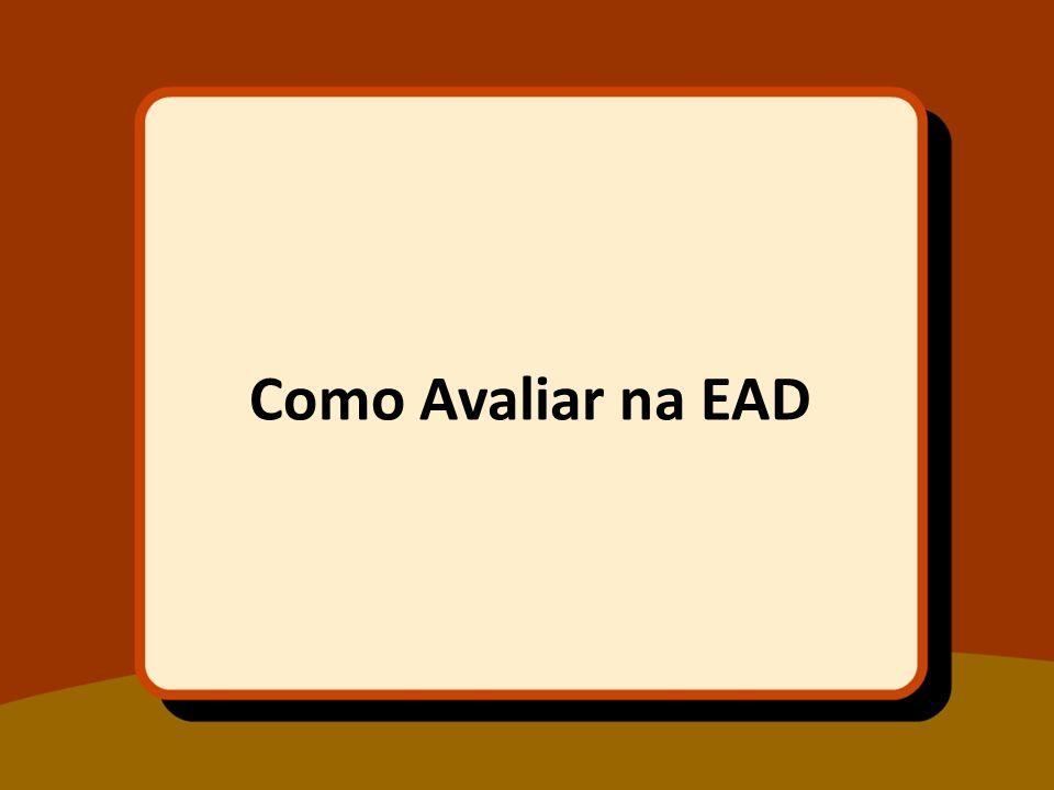 Como Avaliar na EAD