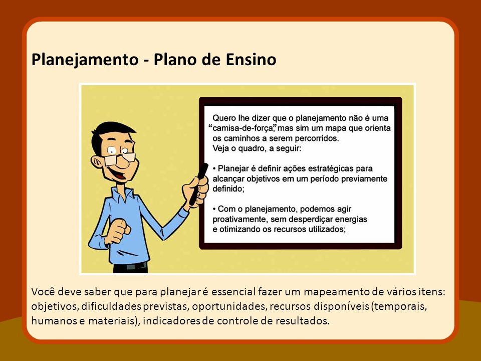 Planejamento - Plano de Ensino
