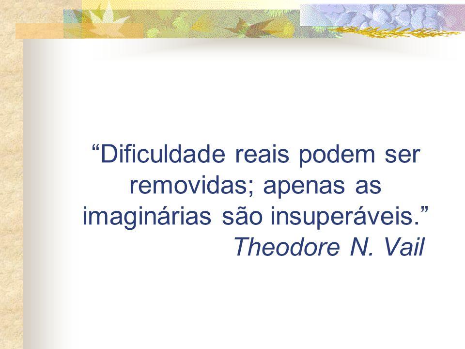 Dificuldade reais podem ser removidas; apenas as imaginárias são insuperáveis. Theodore N. Vail