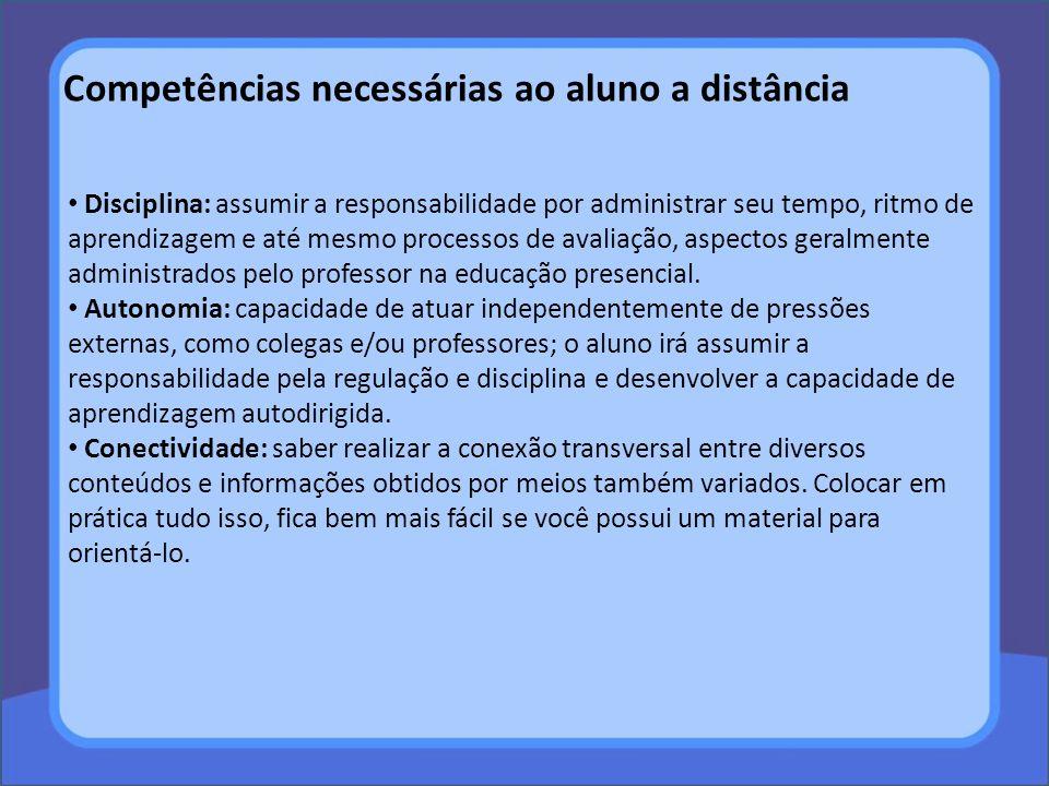Competências necessárias ao aluno a distância