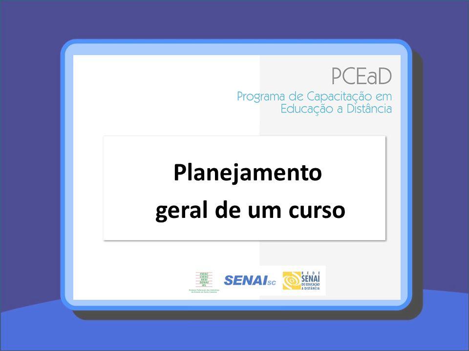 Planejamento geral de um curso