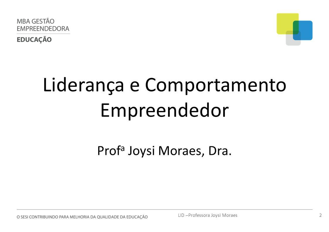Liderança e Comportamento Empreendedor
