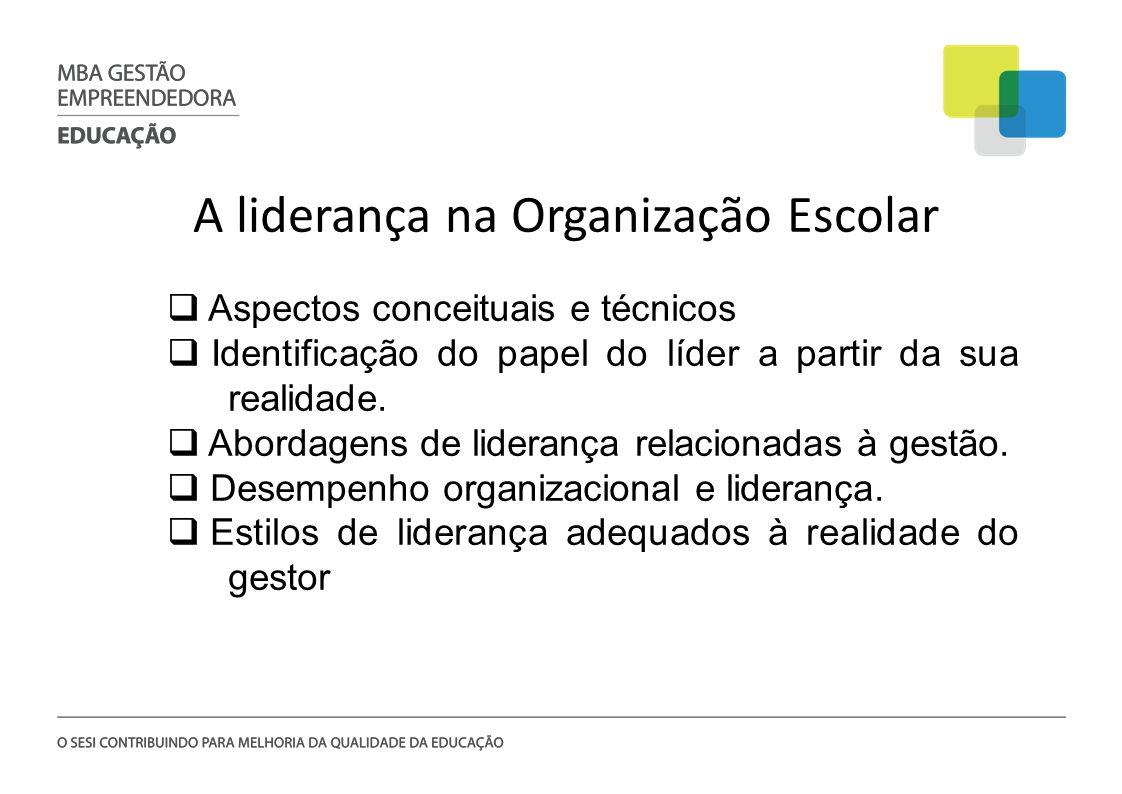 A liderança na Organização Escolar
