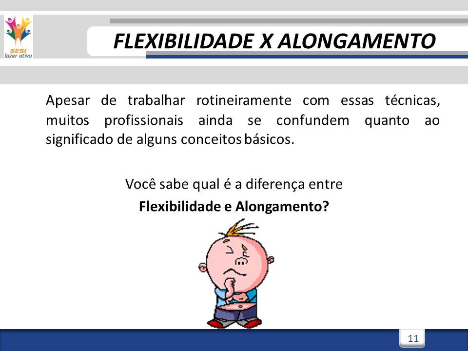 FLEXIBILIDADE X ALONGAMENTO Flexibilidade e Alongamento