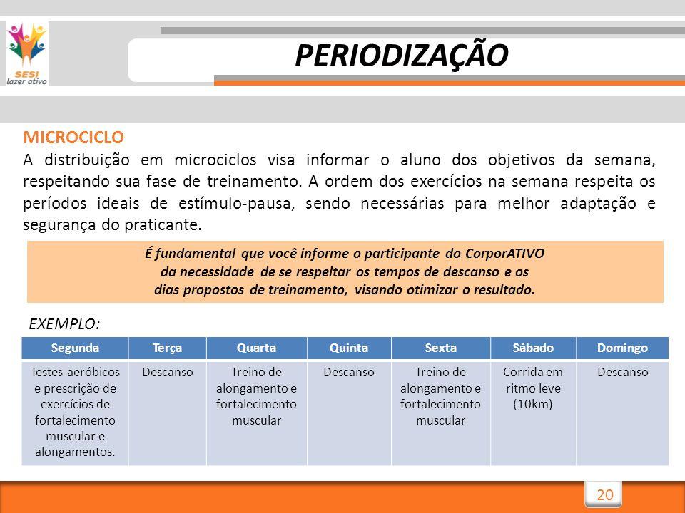 PERIODIZAÇÃO MICROCICLO
