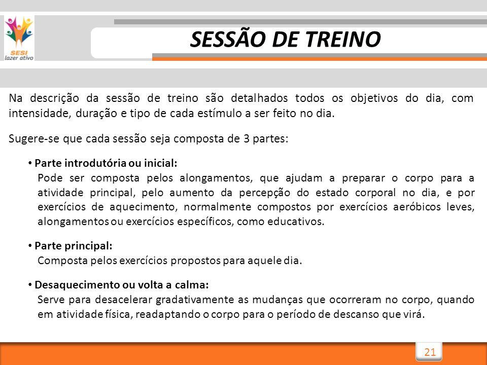 SESSÃO DE TREINO