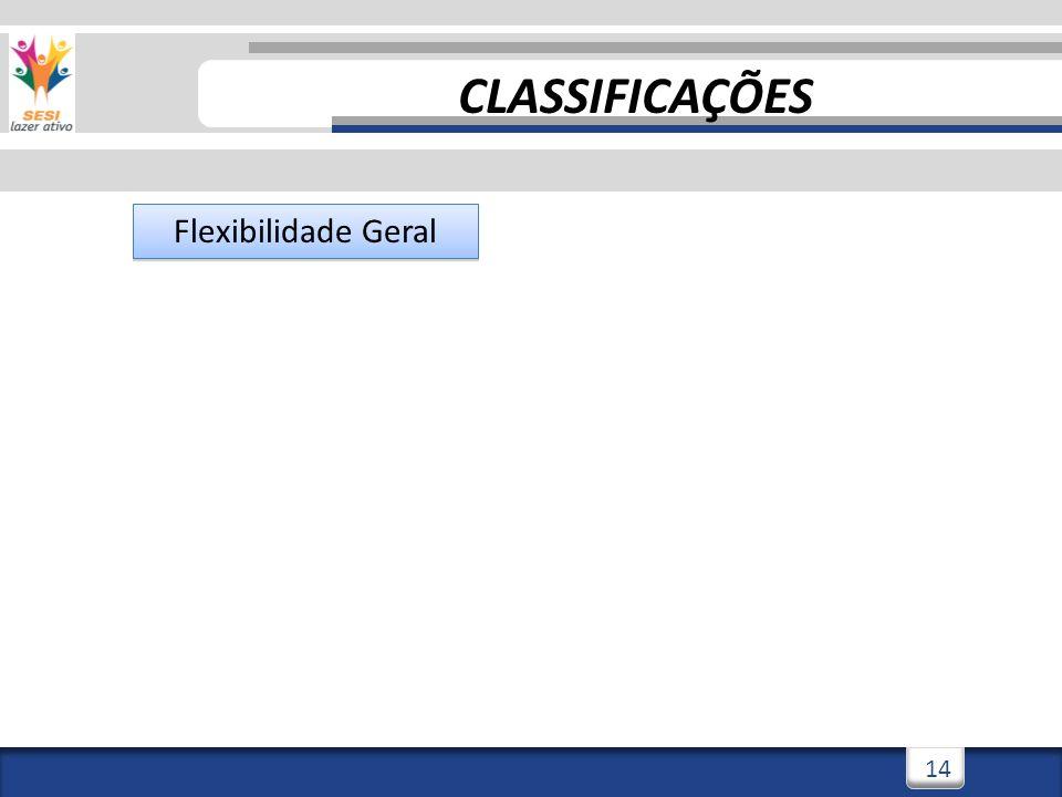CLASSIFICAÇÕES Flexibilidade Geral