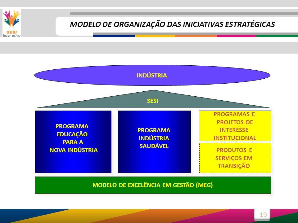MODELO DE ORGANIZAÇÃO DAS INICIATIVAS ESTRATÉGICAS