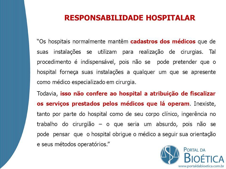 RESPONSABILIDADE HOSPITALAR