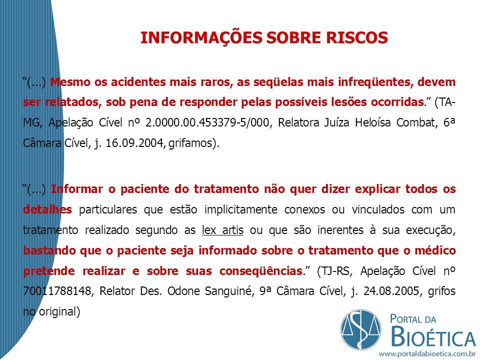 INFORMAÇÕES SOBRE RISCOS