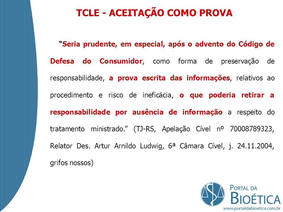 TCLE - ACEITAÇÃO COMO PROVA