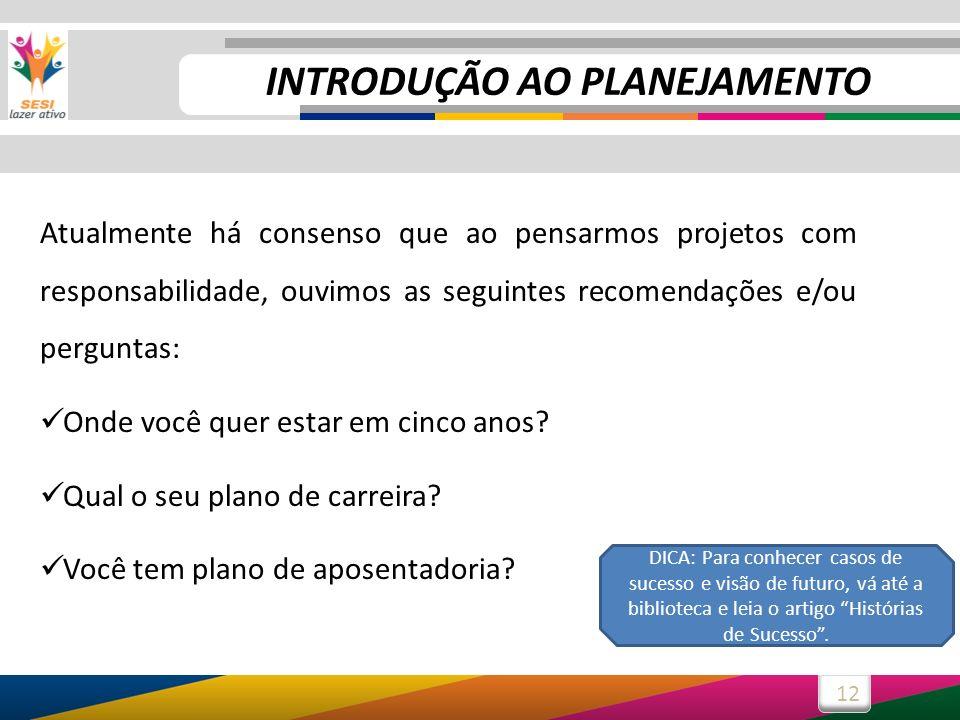 INTRODUÇÃO AO PLANEJAMENTO