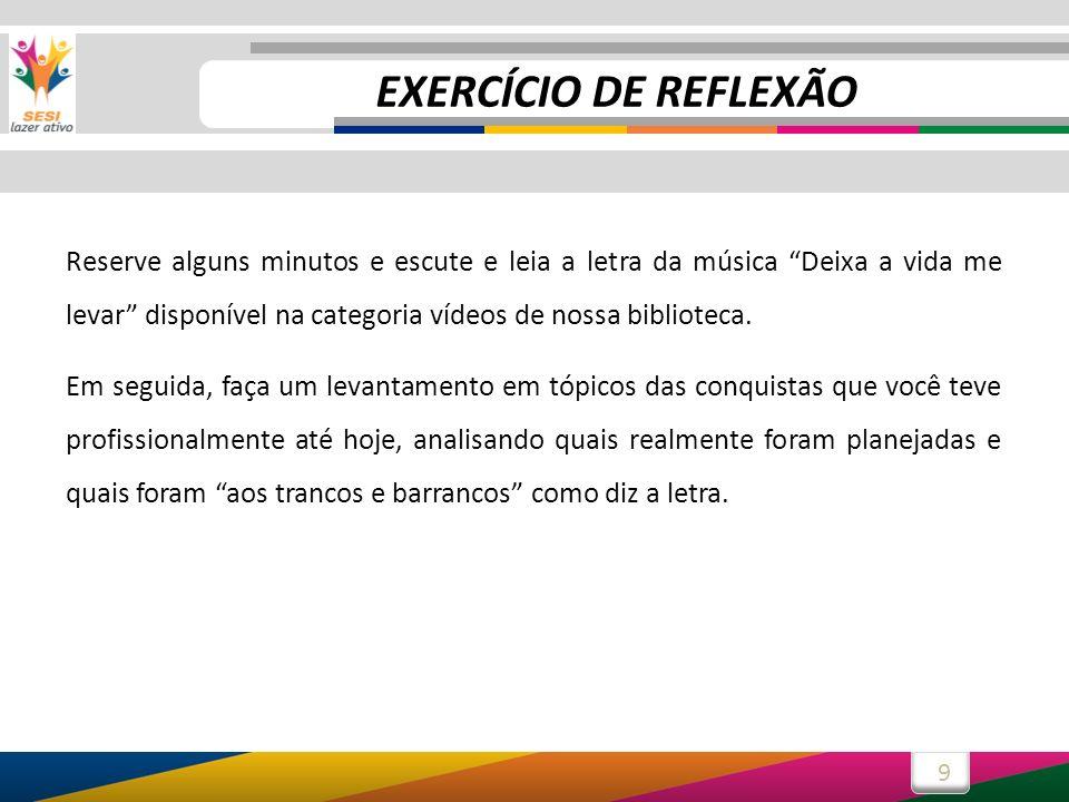 EXERCÍCIO DE REFLEXÃO