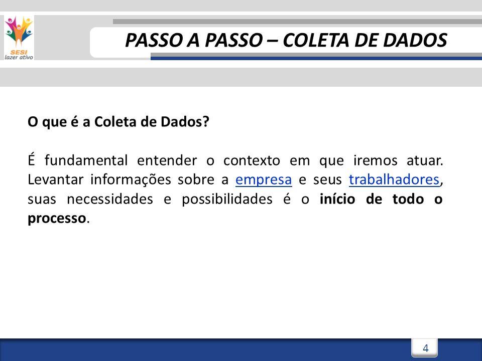 PASSO A PASSO – COLETA DE DADOS