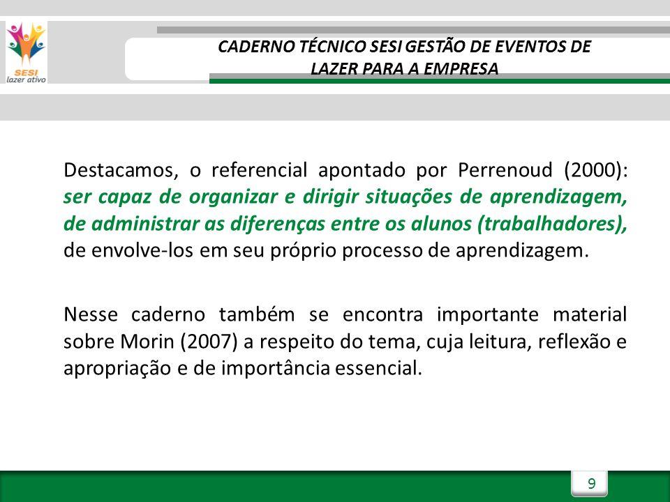 CADERNO TÉCNICO SESI GESTÃO DE EVENTOS DE LAZER PARA A EMPRESA