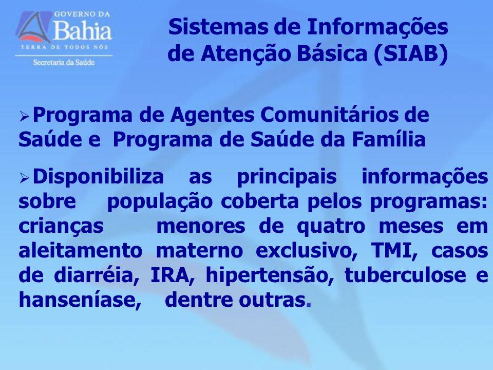 Sistemas de Informações de Atenção Básica (SIAB)