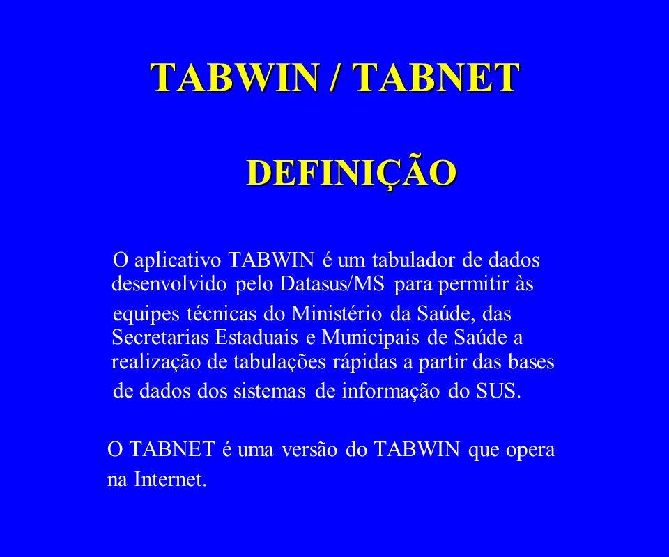 TABWIN / TABNET DEFINIÇÃO