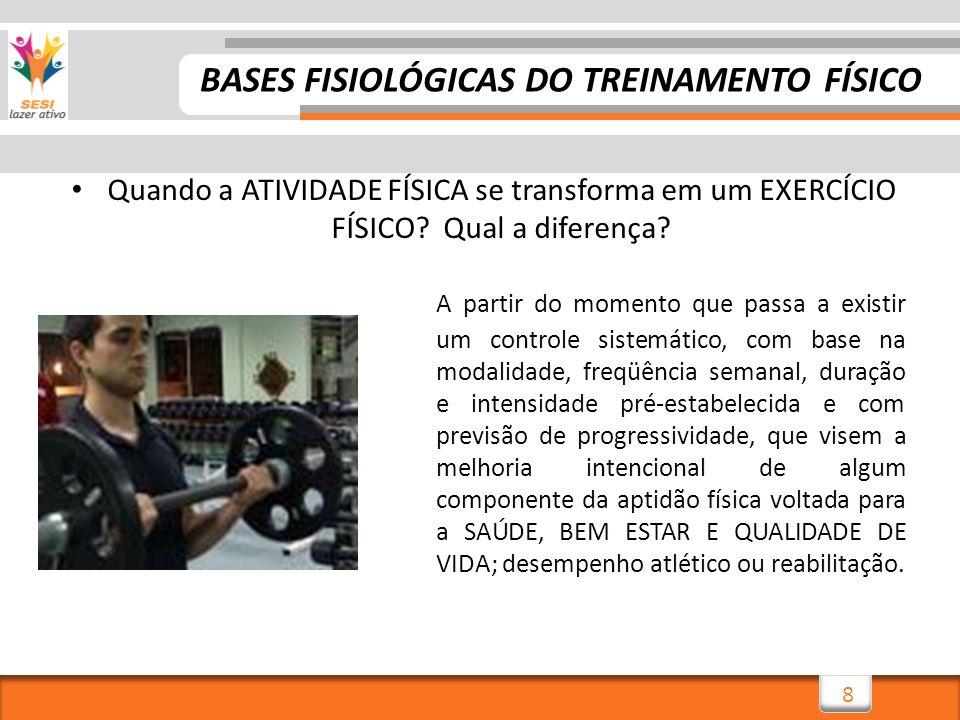 BASES FISIOLÓGICAS DO TREINAMENTO FÍSICO