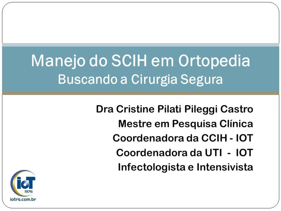 Manejo do SCIH em Ortopedia Buscando a Cirurgia Segura