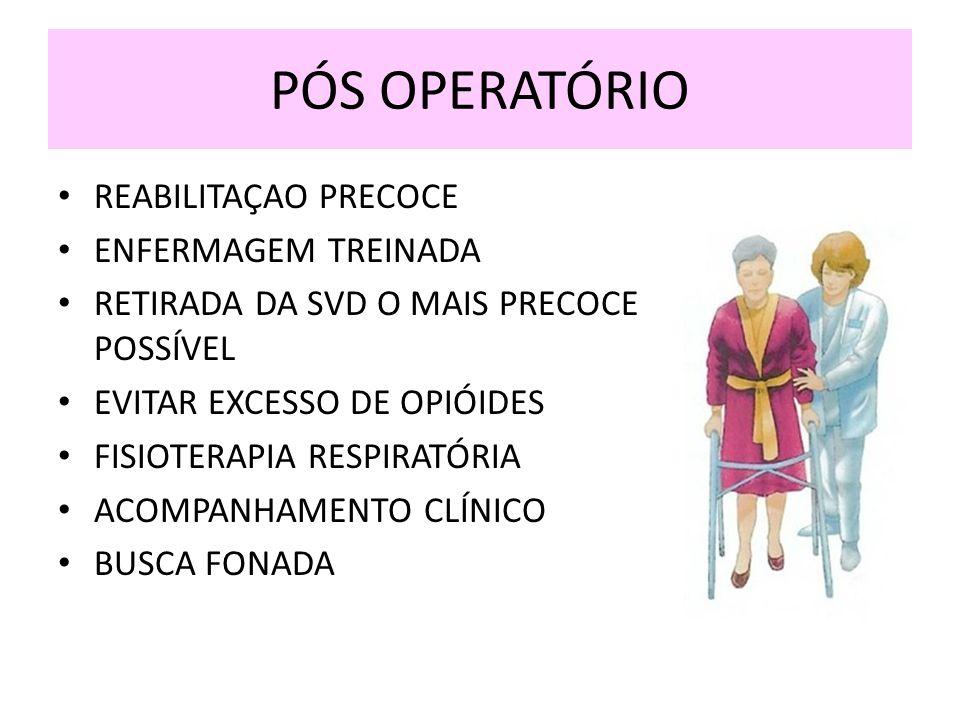 PÓS OPERATÓRIO REABILITAÇAO PRECOCE ENFERMAGEM TREINADA