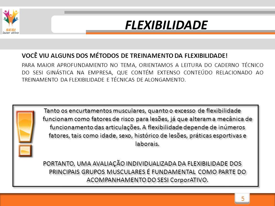 FLEXIBILIDADE VOCÊ VIU ALGUNS DOS MÉTODOS DE TREINAMENTO DA FLEXIBILIDADE!