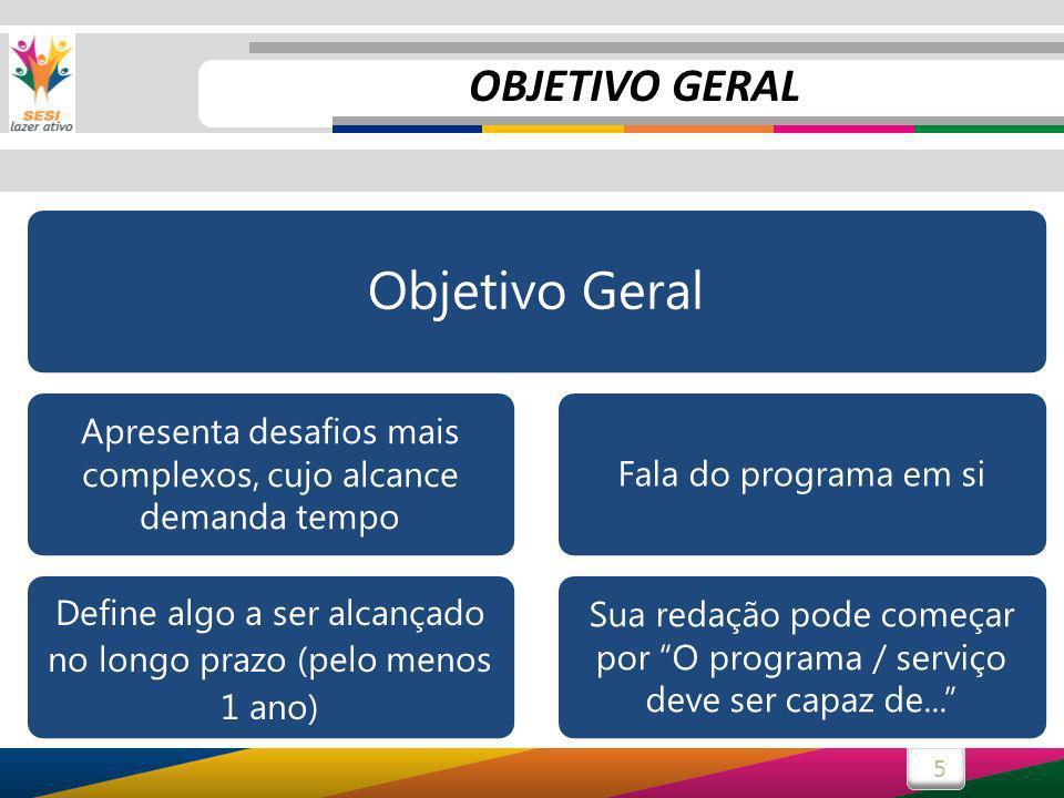 Objetivo Geral OBJETIVO GERAL