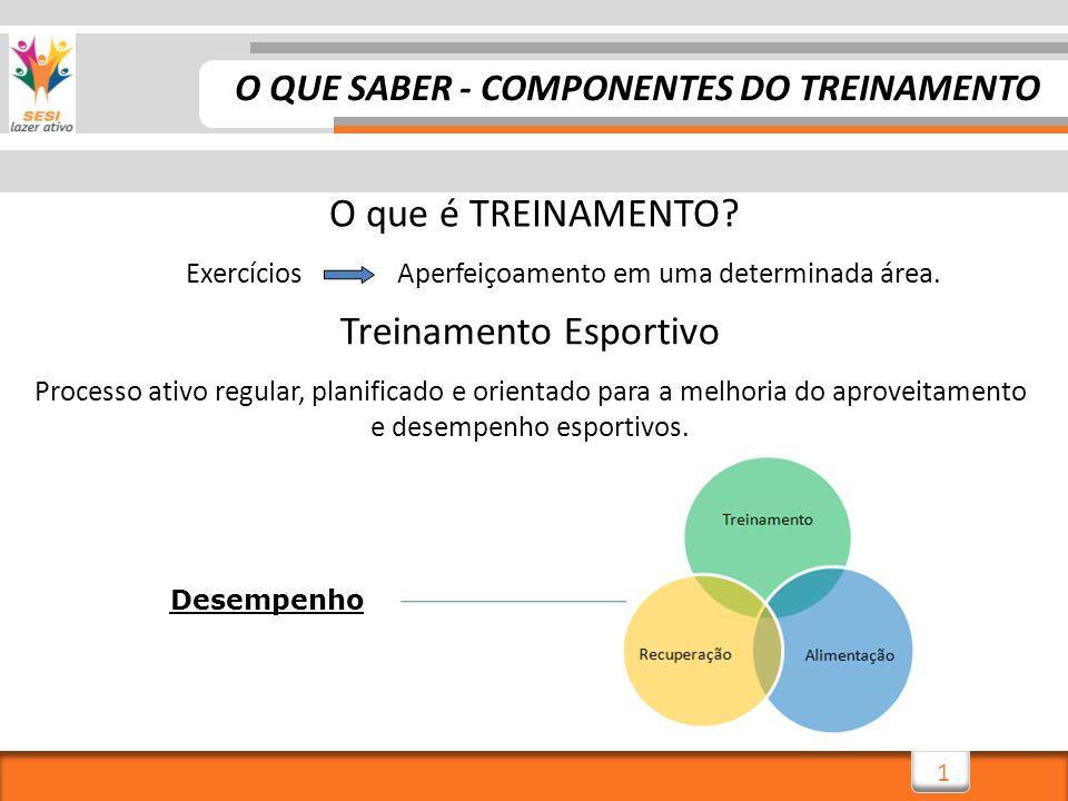 O QUE SABER - COMPONENTES DO TREINAMENTO