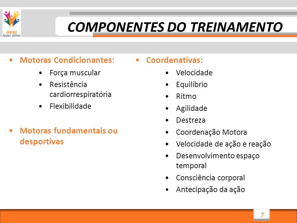 COMPONENTES DO TREINAMENTO