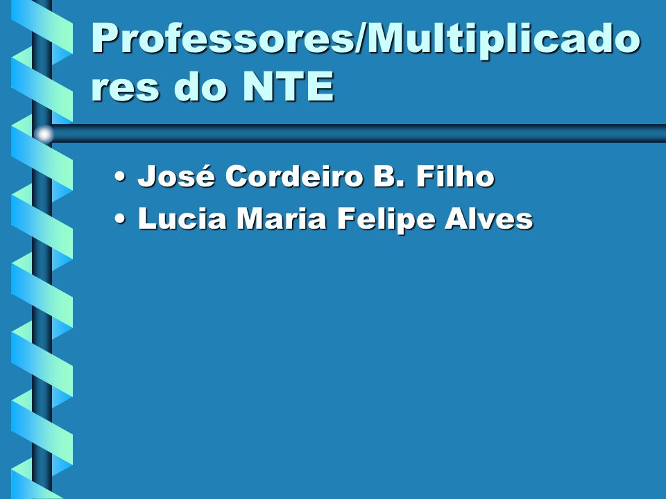 Professores/Multiplicadores do NTE