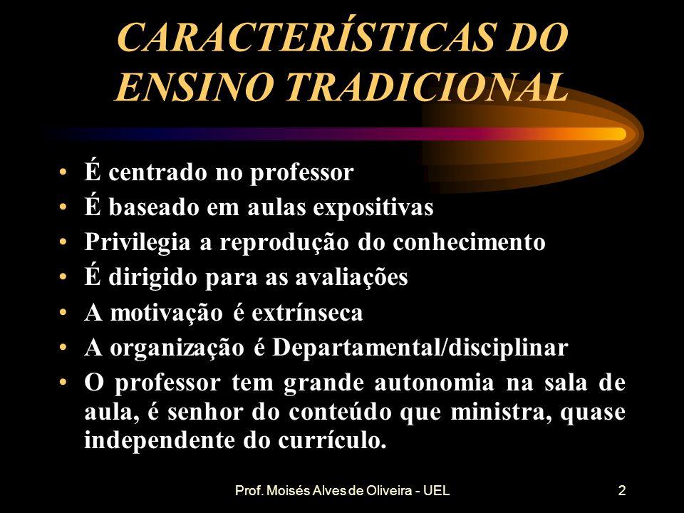 CARACTERÍSTICAS DO ENSINO TRADICIONAL