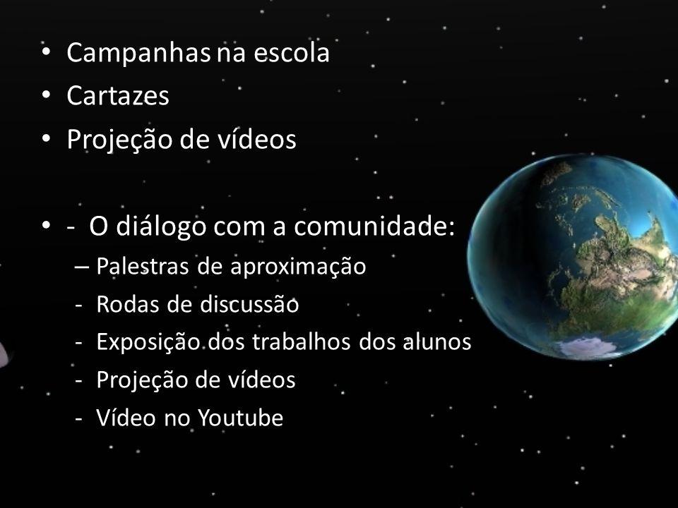 - O diálogo com a comunidade: