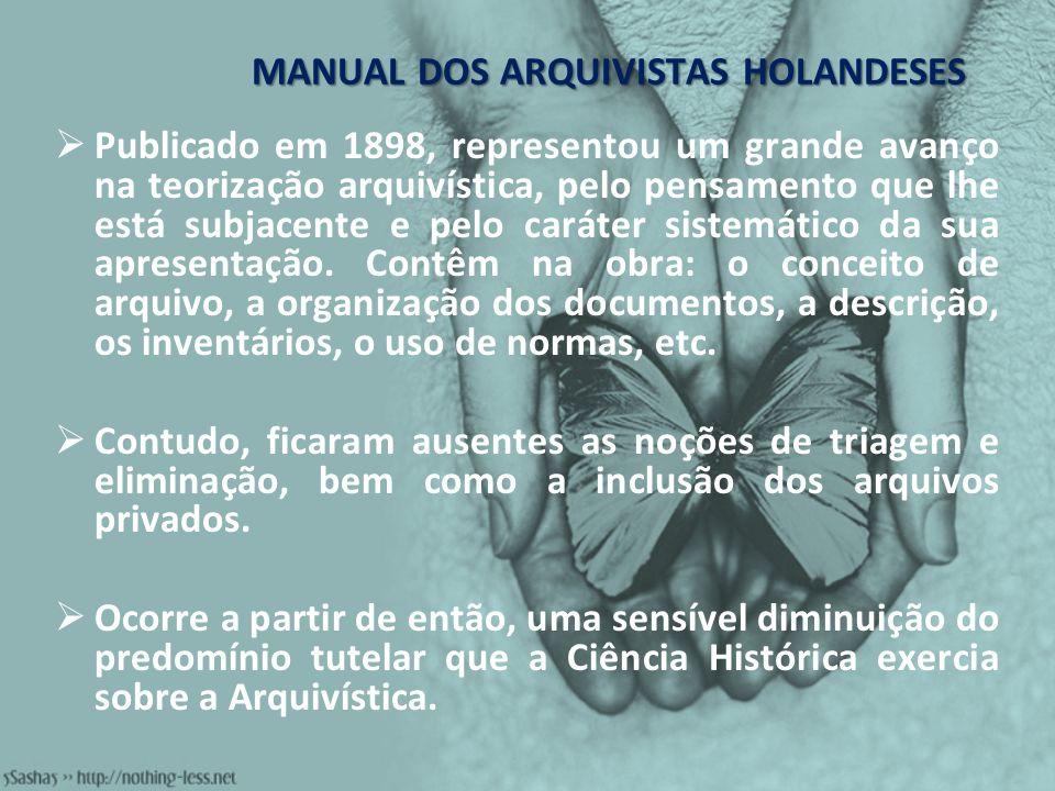 MANUAL DOS ARQUIVISTAS HOLANDESES