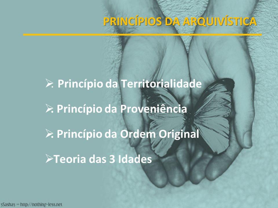 PRINCÍPIOS DA ARQUIVÍSTICA