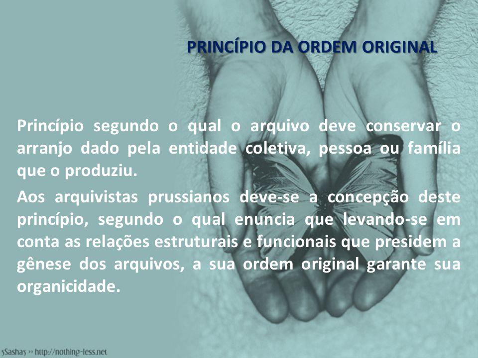 PRINCÍPIO DA ORDEM ORIGINAL