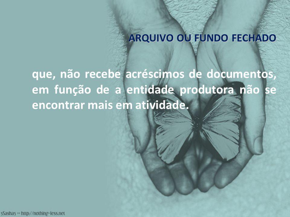 ARQUIVO OU FUNDO FECHADO
