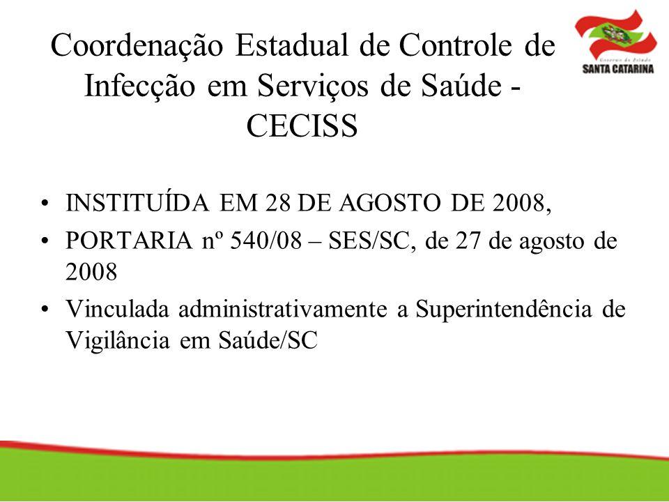 Coordenação Estadual de Controle de Infecção em Serviços de Saúde - CECISS