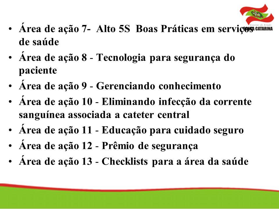 Área de ação 7- Alto 5S Boas Práticas em serviços de saúde