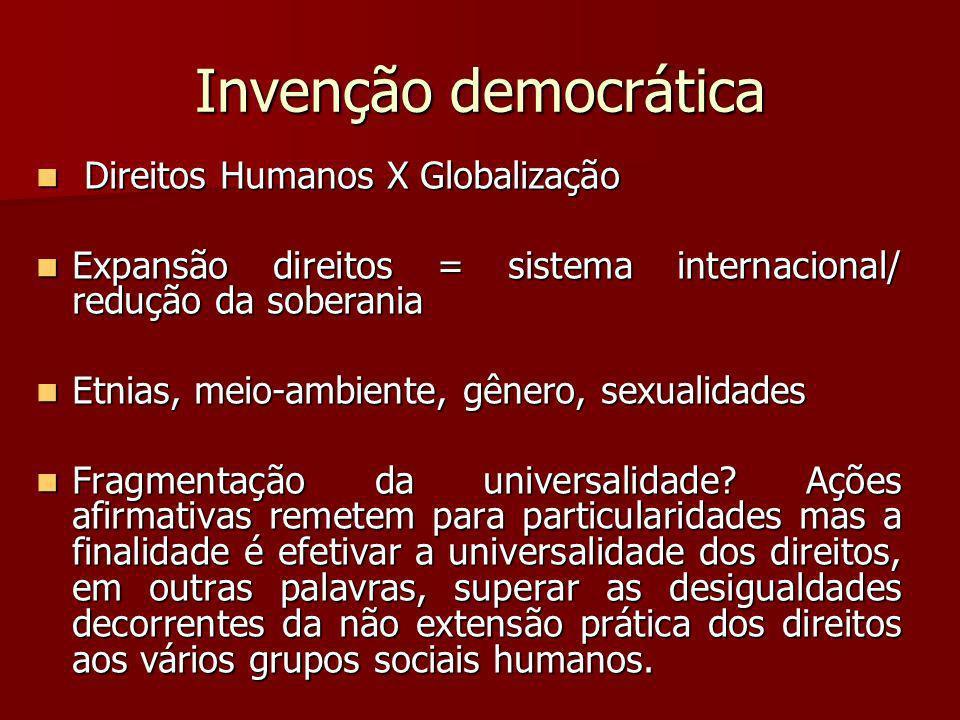 Invenção democrática Direitos Humanos X Globalização