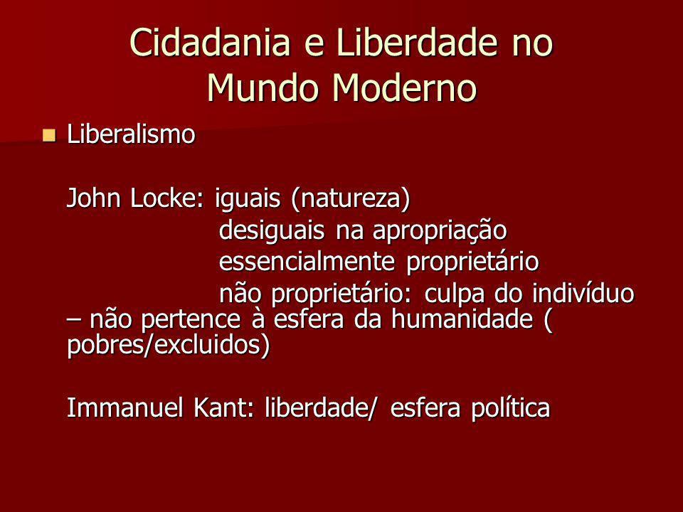 Cidadania e Liberdade no Mundo Moderno