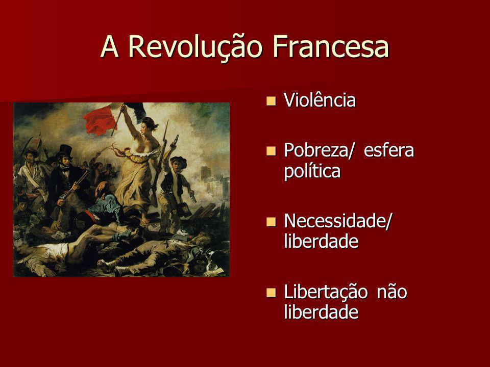 A Revolução Francesa Violência Pobreza/ esfera política