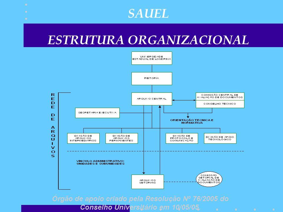 SAUEL ESTRUTURA ORGANIZACIONAL