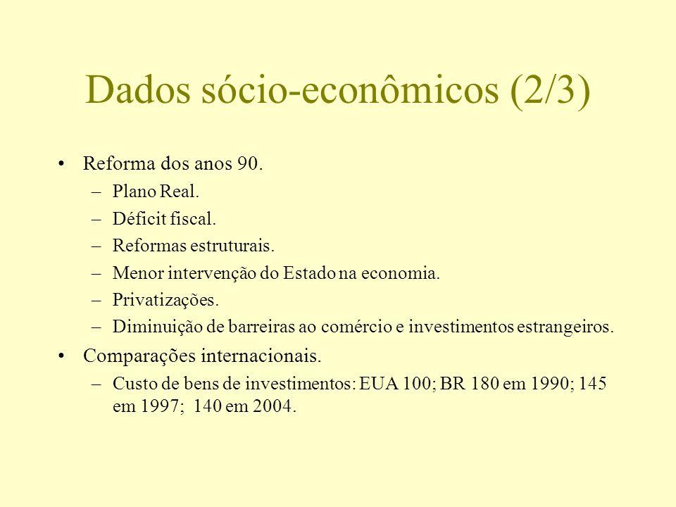 Dados sócio-econômicos (2/3)