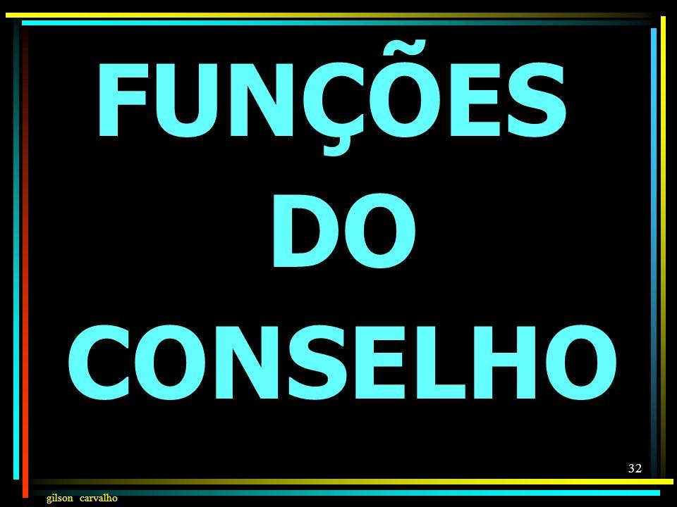 FUNÇÕES DO CONSELHO