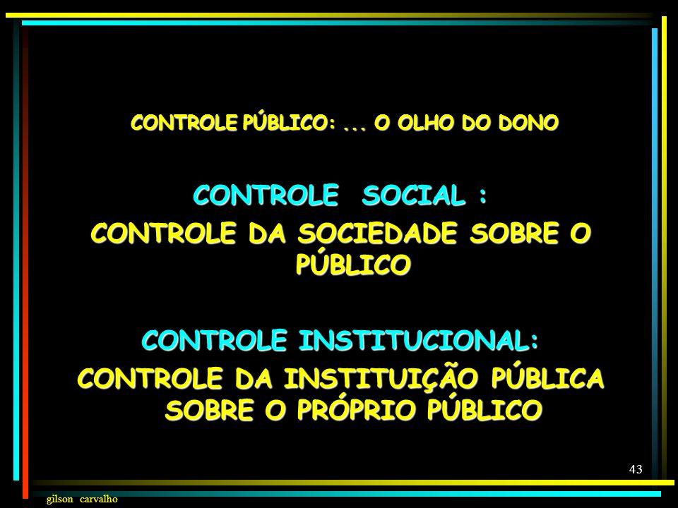 CONTROLE PÚBLICO: ... O OLHO DO DONO CONTROLE SOCIAL :