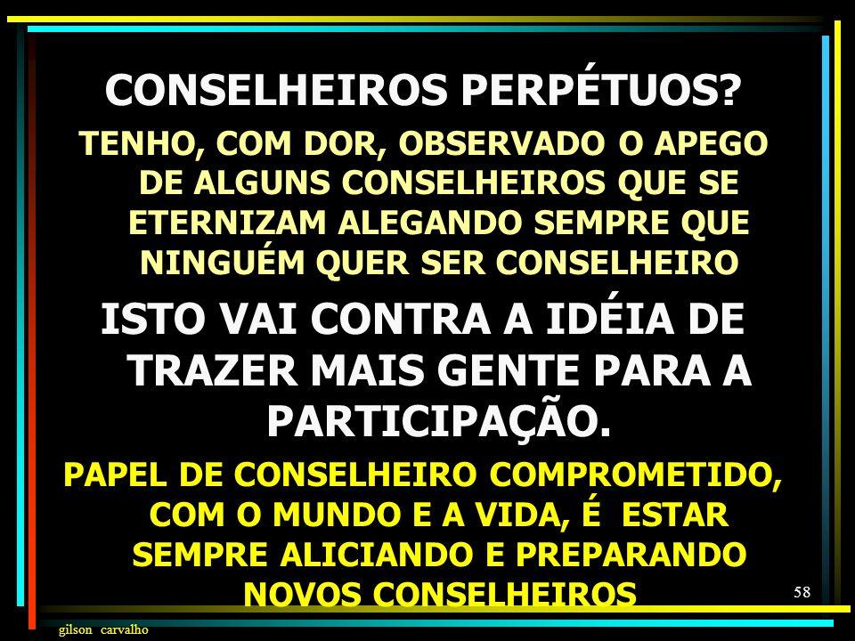 CONSELHEIROS PERPÉTUOS