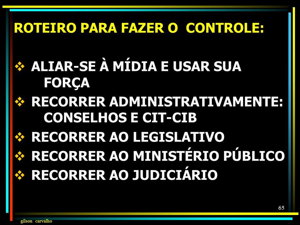 ROTEIRO PARA FAZER O CONTROLE: