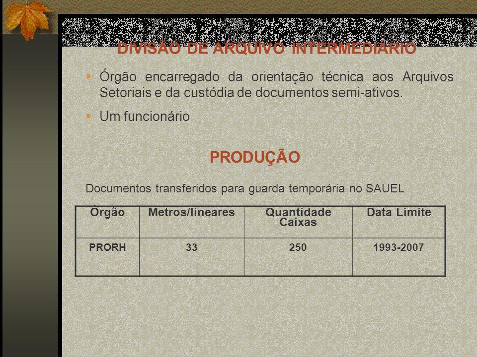 DIVISÃO DE ARQUIVO INTERMEDIÁRIO
