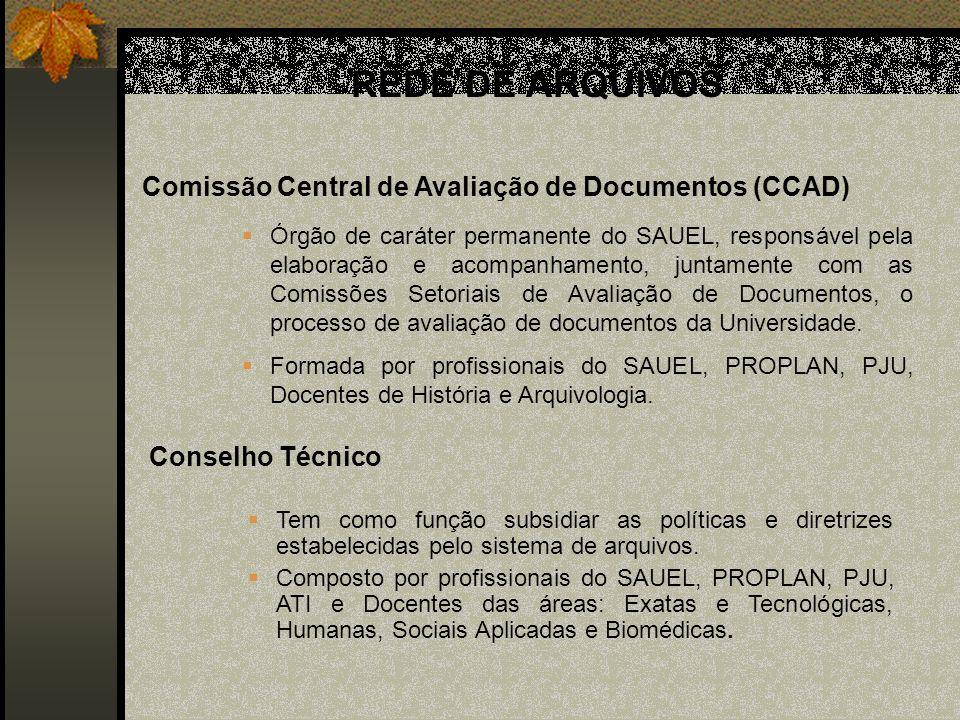 REDE DE ARQUIVOS Comissão Central de Avaliação de Documentos (CCAD)