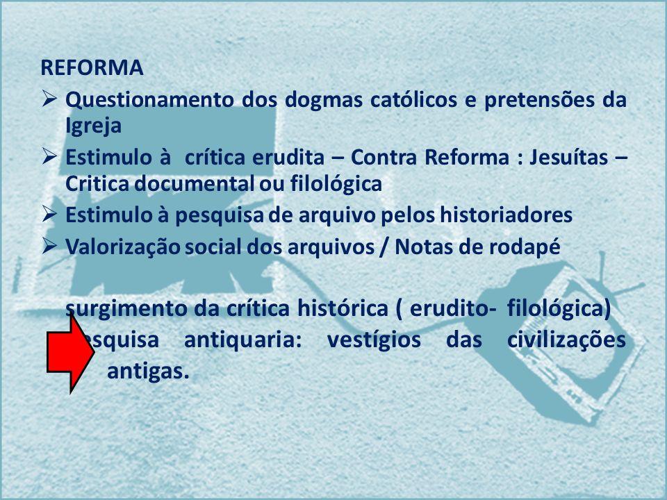 surgimento da crítica histórica ( erudito- filológica)
