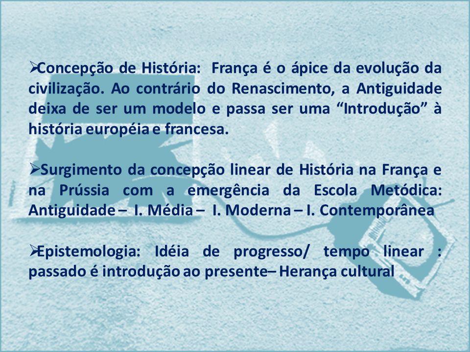 Concepção de História: França é o ápice da evolução da civilização